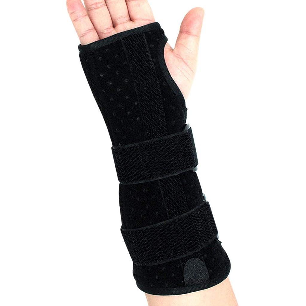 批評雪だるまを作る知性手首サポートブレース、怪我、スポーツ、ジム、繰り返しの緊張などのためのクッション付きパッド付き軽量スプリント デザイン,Righthand,L