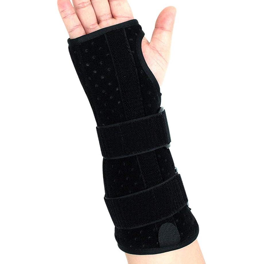 事前に冷ややかなリスナー手首サポートブレース、怪我、スポーツ、ジム、繰り返しの緊張などのためのクッション付きパッド付き軽量スプリント デザイン,Righthand,L