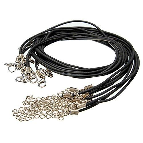 Generic qy-uk4–16feb-20–3785* 1* * 5800* * Cord string corda tondo m PU 10x 2mm 10x 2mm Ther Co Necklace Craft Craft e moschettone per DIY Iy collana artigianale