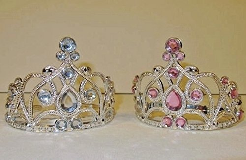 The Wishlist Store Fits 18 Inch American Girl Doll 2 Crown Tiaras Silver and Pink