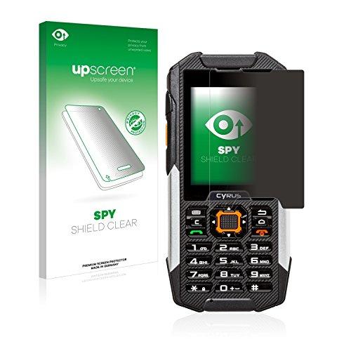 upscreen Anti-Spy Blickschutzfolie kompatibel mit Cyrus cm 16 Privacy Screen Sichtschutz Bildschirmschutz-Folie