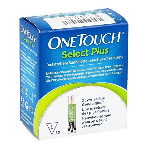 OneTouch Select Plus Blutzuckerteststreifen, 50 St
