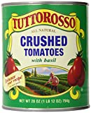 Tuttorosso Crushed Tomatoes with Basil, 28oz Cans (Pack of 6)