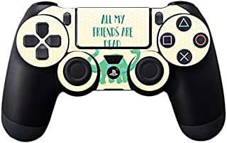 MightySkins Skin Compatible With Sony PS4 Controller - All My Friends Are Dead | Protective, Durable, and Unique Vinyl Dec...