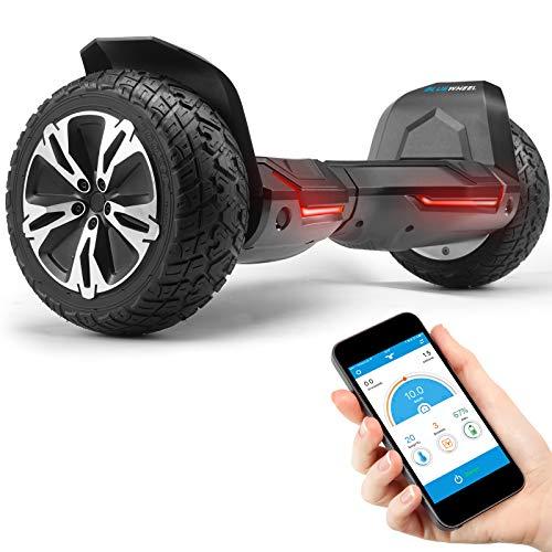 """Bluewheel 8.5"""" Hoverboard patín eléctrico HX510 con UL2272 estándar de Seguridad, Cambia de Color con la App, Altavoz Bluetooth, Motor 700W, Patinete eléctrico con Cobertura de Aluminio (HX510 Negro)"""