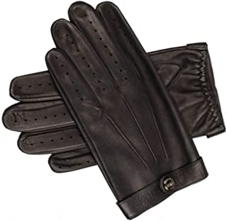 Dents James Bond Spectre Perforated Leather Driving Gloves Large Black