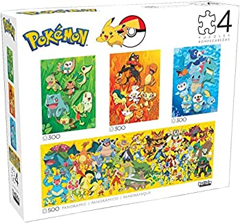 Buffalo Games - 4 in 1 Multipack - Pokemon 500