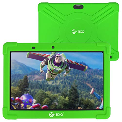 Contixo K101A 10 inch IPS Display Kids Tablet with 2GB RAM 16GB ROM Android 10 Parental Control for Children Infant Toddlers At Home School, Educational Tablet for Kids, WiFi, Child-Proof Case (Green)