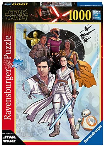 Ravensburger Puzzle Puzzle 1000 Pezzi, The Rise of Skywalker, Puzzle per Adulti, Puzzle Star Wars, Puzzle Ravensburger - Stampa di Alta Qualità