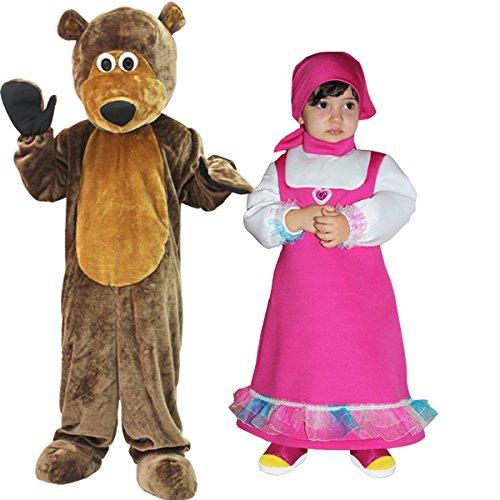 Disfraz de Masha y el oso (2  3 aos)