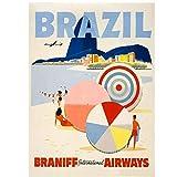 A&D Braniff Vintage Airways Anzeigen Poster Brasilien