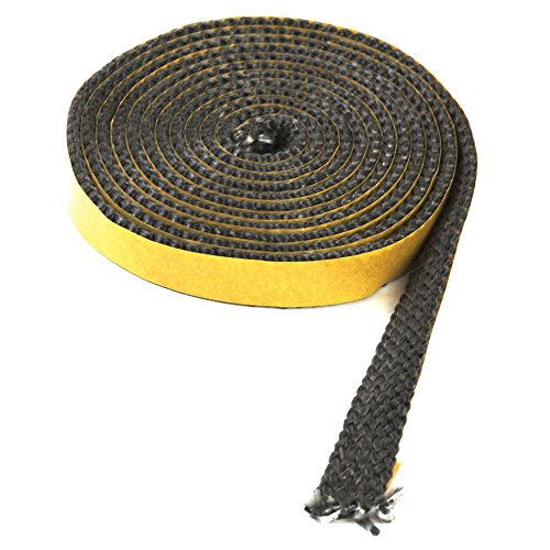 2,5m Kamindichtung selbstklebend 18x3mm Dichtband Scheibe Kamin Ofen Dichtung