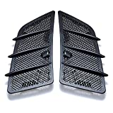 2pcs Durable Hood Grille Air Vent Covers Insert Mesh Compatible with 2008-2011 Mercedes W164 ML GL Class (Matte Black)