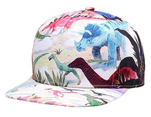 NUZADA - Sombrero de Sol Estamapdo para Hombre Mujer Gorra de Béisbol Visera Plano Snapback Cap