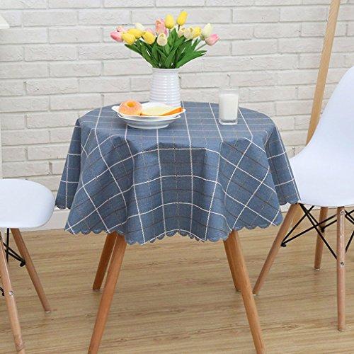 Nappe européenne Nappe imperméable à l'eau de PVC Motifs géométriques Nappe ronde Nappe de table de thé Serviettes (Couleur : #1, taille : Round-120cm)