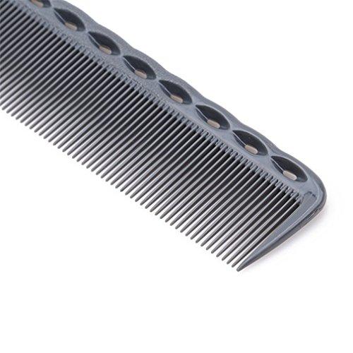 Yeucan Peigne à Dents Fines Outil de Coiffure Cheveux en Plastique Anti Statique Fournitures de Salon de Coiffure résistant à la Chaleur,Gris