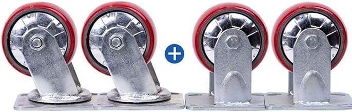 Zwenkwielen (4 stuks) Heavy-duty 8 inch 6 inch 4/5 inch polyurethaan wielen dempen slijtage anti-kronkelende PU handwiel