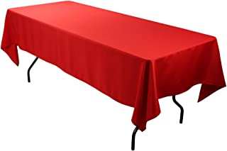 E-TEX Rectangle Tablecloth - 60 x 126 Inch - Red Rectangular Table Cloth for 8 Foot Table in Washable Polyester