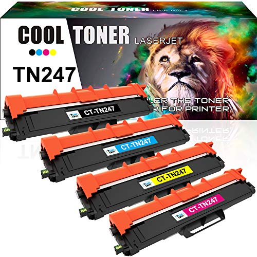Cool Toner Compatible Toner Cartridge Replacement for TN-247 TN-243 TN247BK for Brother DCP-L3550CDW DCP-L3510CDW HL-L3210CW HL-L3230CDW HL-L3270CDW MFC-L3710CW MFC-L3730CDN MFC-L3750CDW MFC-L3770CDW