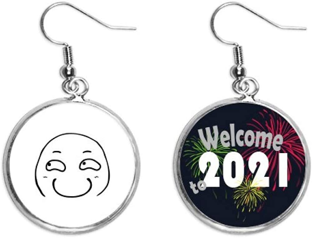 Strabismus Smirk Black Face Pattern Safety and Mail order cheap trust Jewelry Earring Pendants Ear