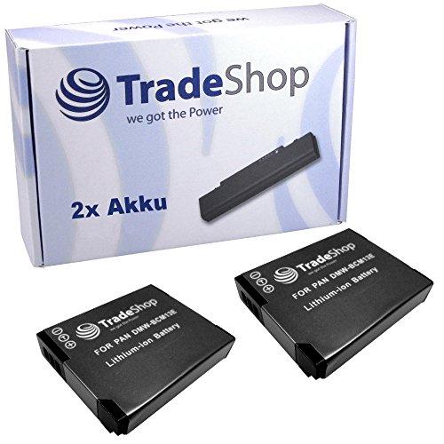 2x Hochleistungs Li-Ion Akku, 3,6V/3,7V für Panasonic Lumix DMCFT5 FT-5 DMCTS5 TS-5 DMCTZ40 TZ-40 DMCTZ41 TZ-41 DMCZS30 ZS-30 ersetzt DMWBCM13 BCM-13 DMW-BCM13E BCM-13E DMWBCM13PP BCM-13PP