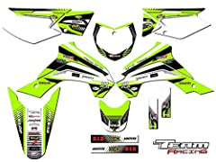 Compatible with Kawasaki 2019-2020 KLX 140G. The set includes stickers for- Rad scops and gas tank, front and rear fenders, swingarms, fork guards, all 3 number plates,and airboxes on most models. 16 Mils thick with highly aggressive adhesive! Dirt b...