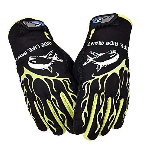 CapsA Ski Gloves Winter Windproof Waterproof Snowboard Thinsulate Cold Weather Warm Snow Snowmobile Gloves for Men Women Snow Warm Full Finger Anti Slip Thermal Winter Mitten (Green)