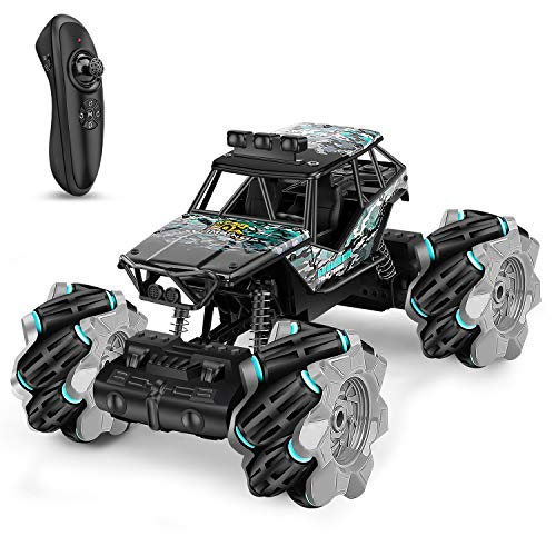 Remote Control Car, RC Monster Truck for Boys/Girls Kids Toys Christmas Birthday Gift for Age 6 7 8 9 10 11 12, High Speed Drift Vehicle, Double Sided 360° Rotating, 4WD, USB Rechargeable
