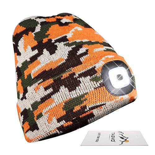 berretto con luce led TAGVO USB Ricaricabile LED Cappello