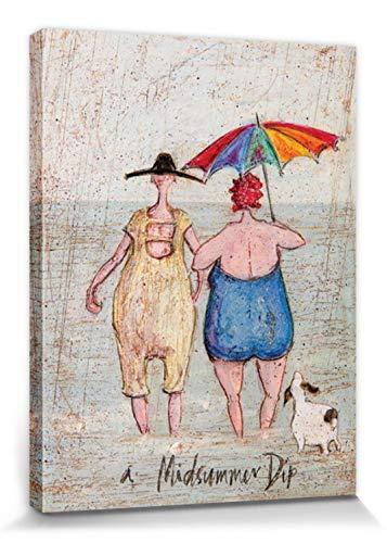 1art1 Sam Toft - Midsummer Dip Bilder Leinwand-Bild Auf Keilrahmen | XXL-Wandbild Poster Kunstdruck Als Leinwandbild 40 x 30 cm
