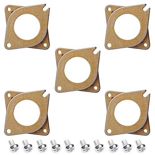 Electrely 5 Stücke NEMA 17 Schrittmotor Stoßdämpfer Vibrationsdämpfer, 42 Schrittmotor Schwingungsdämpfer mit 10 Stück M3 Schraube für 3D Drucker, Creality CR-10,10S, CNC