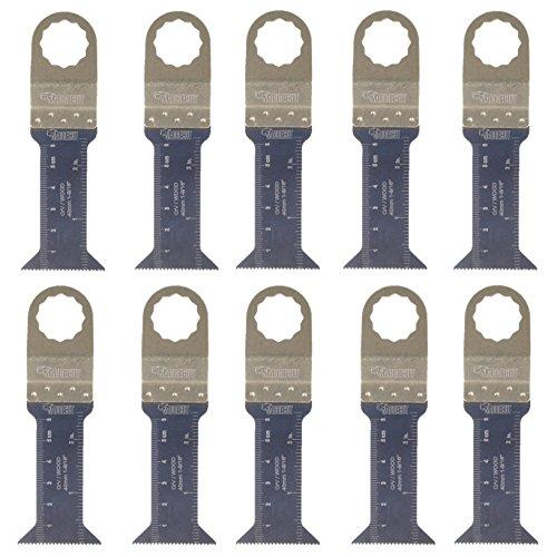 10 x SabreCut SC44L_10 44mm x 68mm Lange Holz Klingen für Fein Supercut und Festool VECTURO (Nicht-StarLock) Multitool Multi Tool Multifunktionswerkzeug Oszillierwerkzeug Zubehör