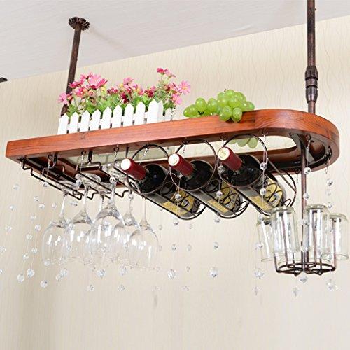 XXHDEE Massivholz Bar Weinregal Weinglas Rack Hängen Weinregal Dekoration Kreative Regal Weinglas Rack Umgedreht Weinregal (Color : #1)