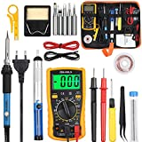 Vastar Fer à Souder Kit, 60W Kit de Soudure, Temperature Réglable de 200~450℃, Multimètre, 5PCS...