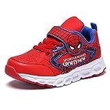 XNheadPS Spiderman Zapatos de Deporte ejecutarse de los Muchachos Formadores...
