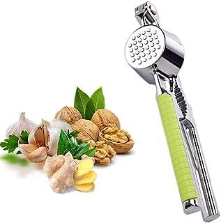 Sinogoods Prensa ajos, Prensador de Ajos de Acero Inoxidable, Prensa Manual de Ajo, para Restaurante, Hotel, Cocina Cocine...