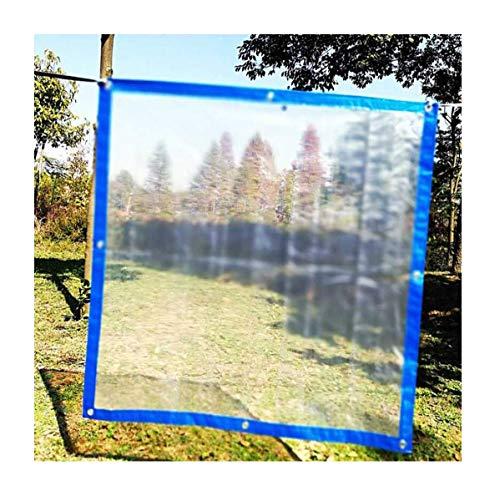 Kante Kunststofffolie Pflanzen Schutzschützer Dicke Kunststoffplane Rainfest Transparent Wasserdichte Plane (Size : 1x2m)