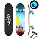 "Hipoten Skateboard - 32"" Complete 8-Layer Canadian Maple Wood Tricks Professional Skateboard"