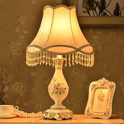 HYY-YY - Lámpara de mesa Personality, estilo europeo sencillo, para salón, dormitorio, lámpara de mesita de noche, bombilla LED E27 o E14, luz de lectura Pastoral sencilla