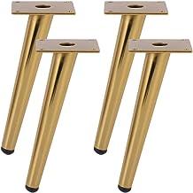 Salontafel poten, 4 stuks meubelpoten ijzeren koffietafel poten schuine tafelpoten, dikke rubberen kop beschermen de vloer...