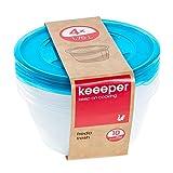 keeeper Fredo Fresh Frischhaltedose - 19,5 x 9 cm - rund - 4er Set