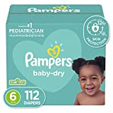 Diapers Size 6, 112 Count - Pampers Baby Dry Disposable Baby Diapers, Enormous Pack
