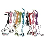 JustJamz Kids (10 Pack) Color Call with Mic Earbud Earphones Headphones - Assorted