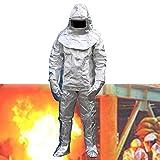 CEXTT 1000  Ropa impermeable de lámina de aluminio, ropa de aislamiento térmico resistente al agua y resistente al calor, mono de seguridad del revestimiento de algodón, minas de carbón, pozos de ace