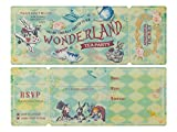 Summer-Ray 24 Sets Vintage Alice in The Wonderland Tea Party Invitation with Sleeve Holder