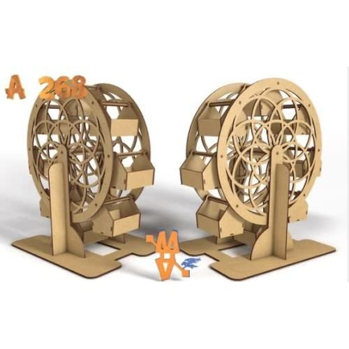 Kit para hacer noria de madera DM para candy bar mesa dulce. Manualidades con madera: Amazon.es: Juguetes y juegos