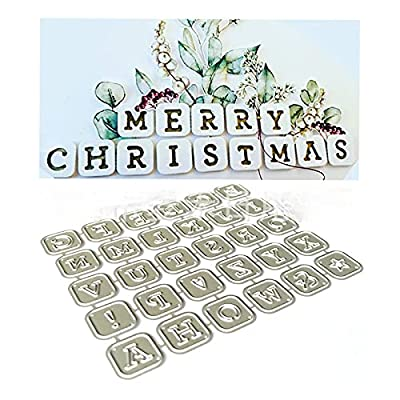 Small Square Letters Cutting Dies,Letmefun Metal Cutting Dies Stencils for DIY Scrapbooking Album Paper Cards Making Decorative Crafts Supplies 2019 New Diecut