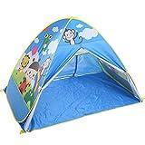 XinQing-Tienda Los niños juegan la Tienda Wild Outdoor Outing Totalmente automático Quick Open Camping Camping Cartoon House (Azul, Rosa 160 * 120 * 110cm Embalaje de 1) (Color : Blue)
