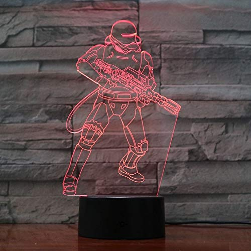 Best 3D Night Light Science Fiction Movies Fast delivery Best Decor Living Room Table Lamp Night Light Atmosphere