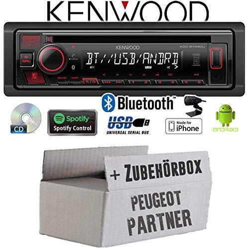 Negro, 1 DIN, 88 W, 50 W, CD,CD-R,CD-ROM,CD-RW, 20-20000 Hz Kenwood KDC-BT730DAB Receptor Multimedia para Coche Negro 88 W Bluetooth Radio para Coche